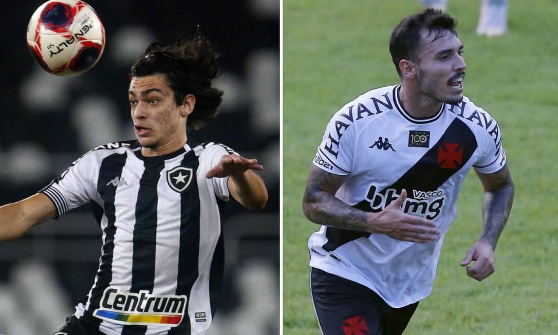 Nascimento e Zeca: aposta para o Botafogo e solução para o Vasco Foto: Vítor Silva/Botafogo e Marcelo Theobald