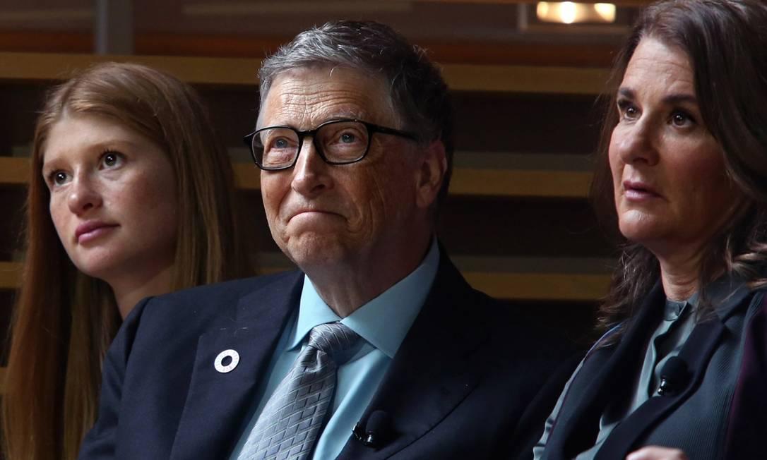 Jennifer Gates com os pais, Bill e Melinda Gates Foto: Getty Images