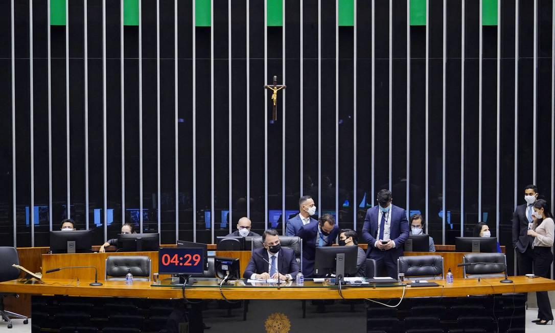 Sessão do Congresso chegou a ser iniciada, mas não houve acordo para votação Foto: Pablo Valadares/Câmara dos Deputados