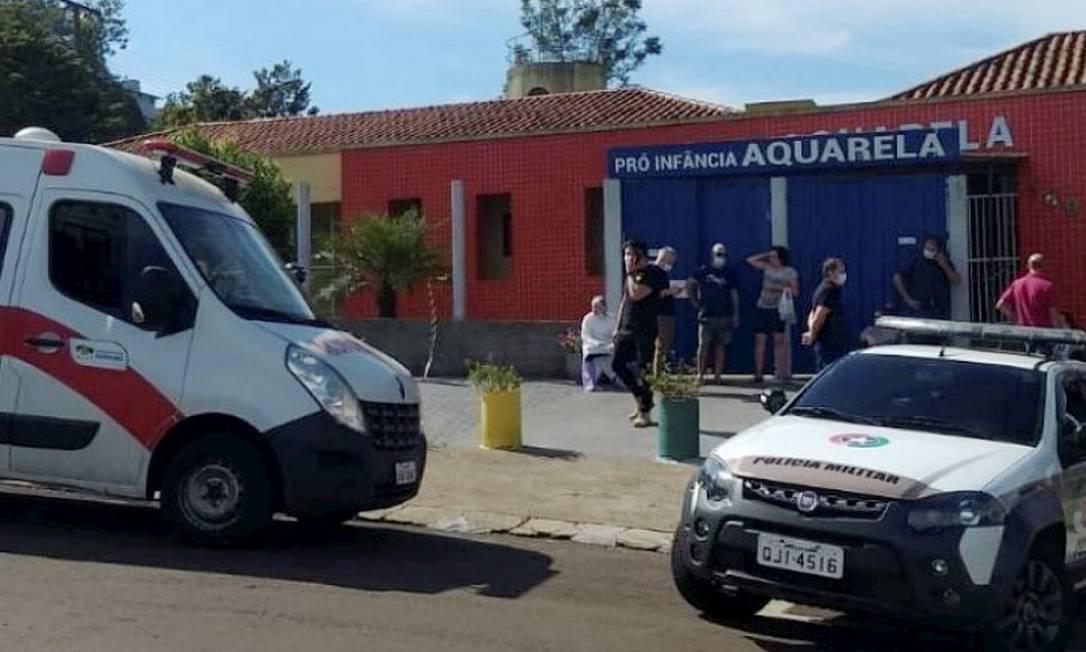 04/05/2021 Jovem invadiu escola pró-infância Aquarela, em Saudades, Santa Catarina Foto: Reprodução/Redes Sociais Foto: Agência O Globo