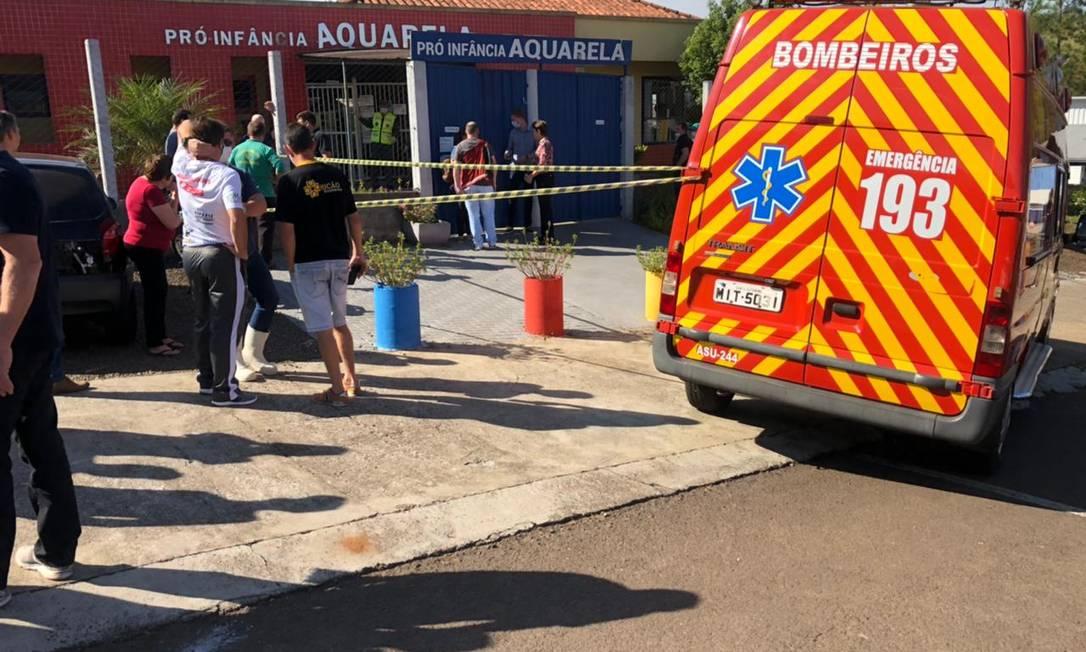 Jovem invadiu escola pró-infância Aquarela, em Saudades, Santa Catarina Foto: Felipe Eduardo Zamboni