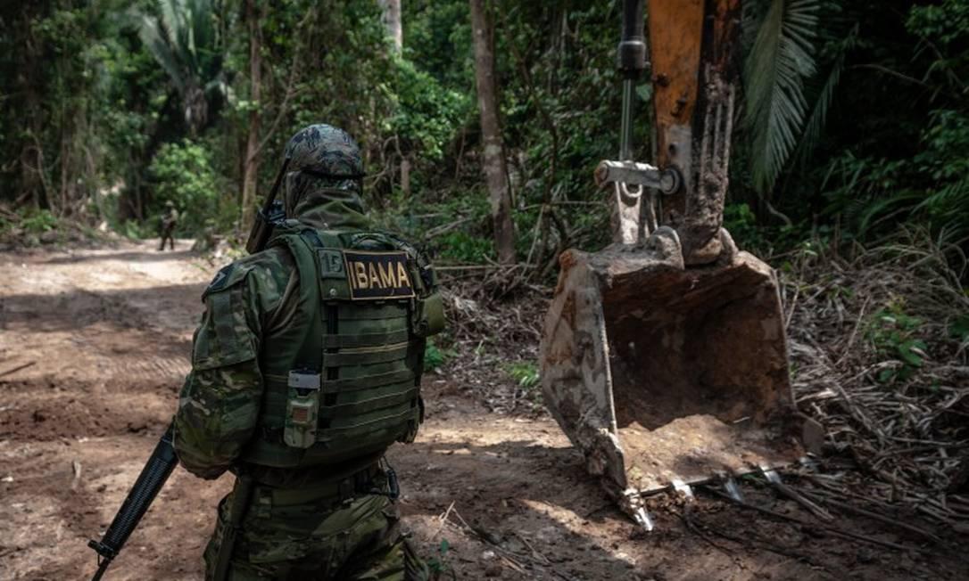 Fiscalização do Ibama desativa garimpos ilegais nos parques nacionais do Jamanxim e do Rio Novo, no Pará. Foto: Vinícius Mendonça / Infoglobo