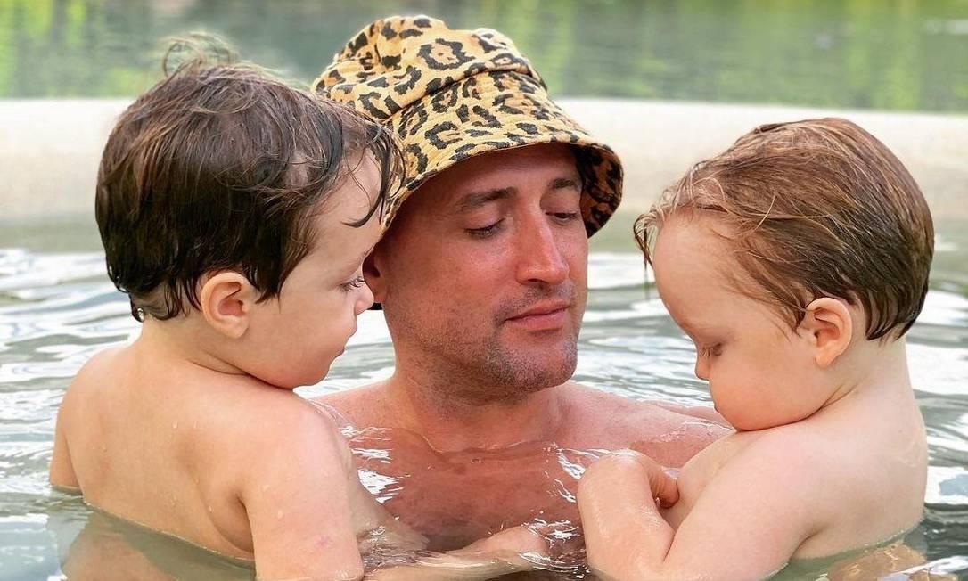 Paulo Gustavo com os filhos Gael e Romeo Foto: reprodução Instagram