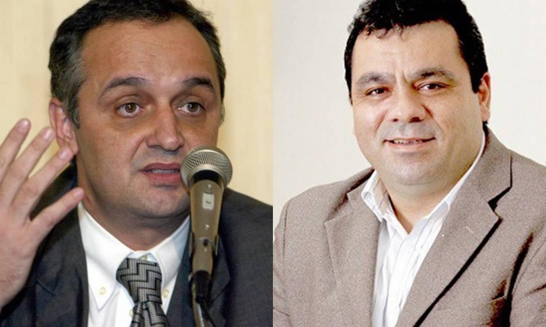Nelson Rocha (à esquerda) e Alexandre Chiepp (à direita), os novos secretaríos de Fazenda e Saúde, respectivamente Foto: Sérgio Borges e Finep/Divulgação