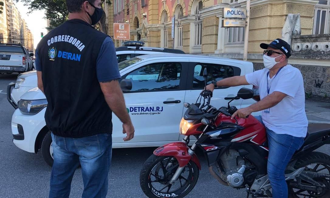 Detran apreende motocicleta clonada que ex-dono diz ter comprado em leilão público Foto: Divulgação