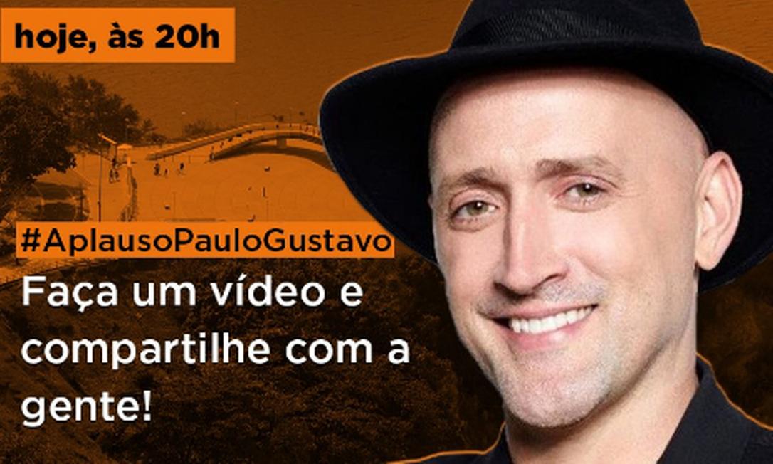 Homenagem para ator Paulo Gustavo ocorre em aplausos pelas janelas em todo país Foto: Divulgação / Prefeitura de Niterói