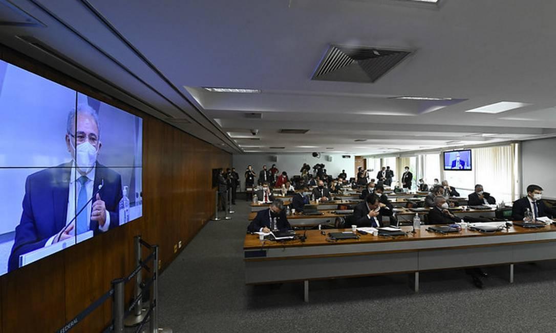 Sessão da CPI da Covid 06/05/2021 Foto: Edilson Rodrigues/Agência Senado