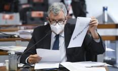 O senador Luis Carlos Heinze (PP-RS) 05/05/2021 Foto: Jefferson Rudy/Agência Senado