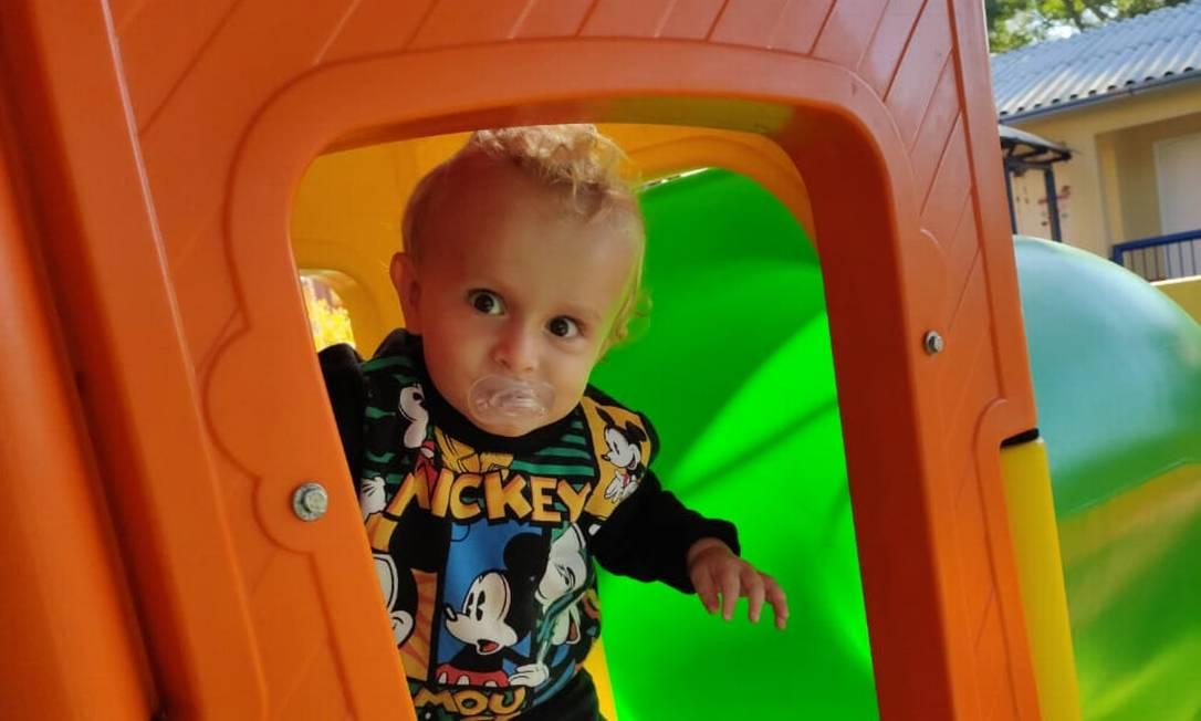 O pequeno Murilo, de 1 ano e 9 meses: vítima de ataque a creche em SC Foto: Reprodução