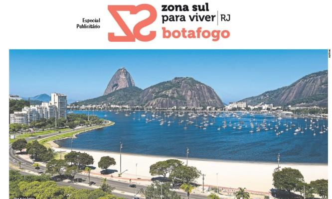 Capa do caderno Zona Sul para Viver RJ especial Botafogo Foto: Reprodução