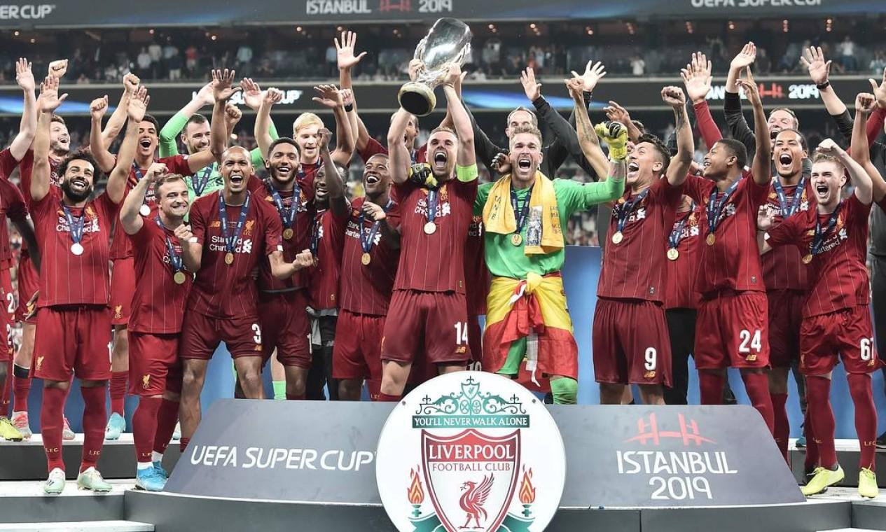 12º - Liverpool (futebol): 4,1 bilhões de dólares Foto: OZAN KOSE / AFP