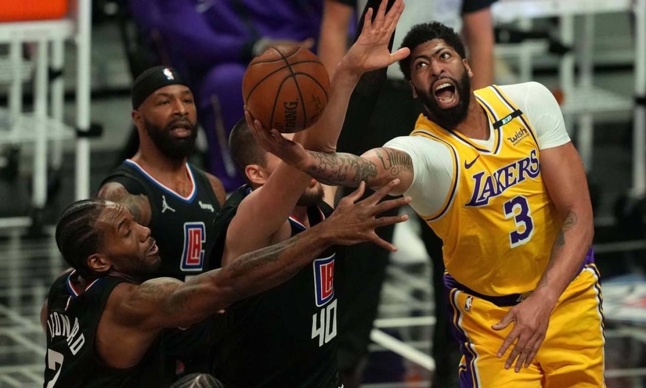7º - Los Angeles Lakers (NBA): 4,6 bilhões de dólares Foto: Kirby Lee / USA TODAY Sports