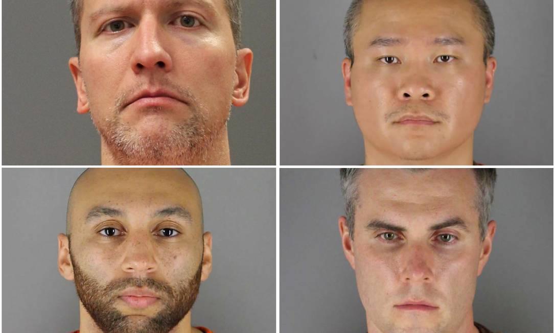 Quatro ex-policiais são denunciados por violar direitos civis de George Floyd