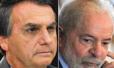 Jair Bolsonaro, Lula, Ciro Gomes e João Doria Foto: Editoria de Arte