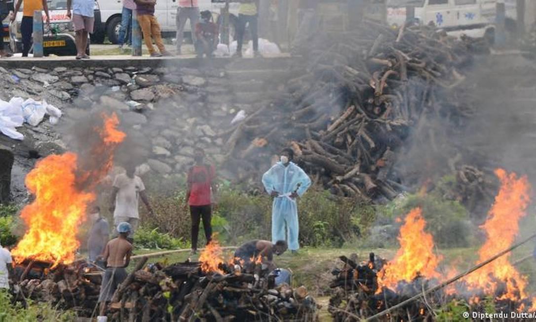 Índia já registra 240 mil mortos pela covid-19 Foto: Diptendu Dutta/AFP