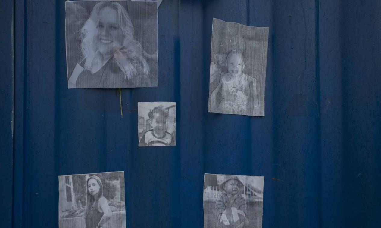 Fotos das vítimas. Três crianças e duas professoras foram mortas por um jovem de 18 anos que invadiu a creche com uma faca e uma adaga Foto: Edilson Dantas / Agência O Globo