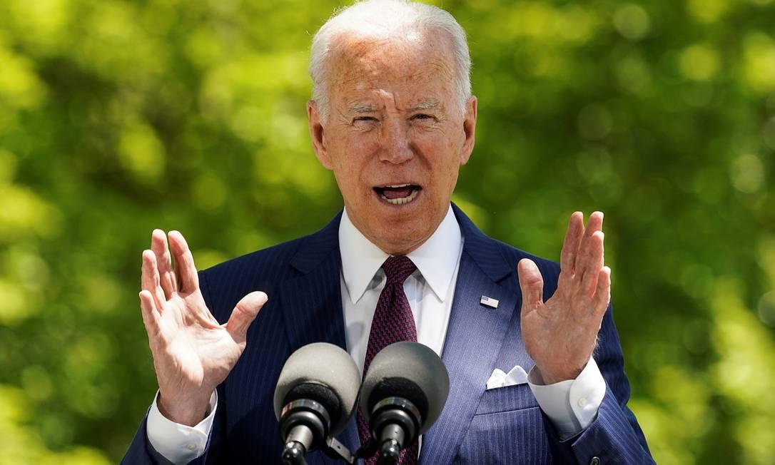 Primeiros cem dias do governo Biden é marcado por planos econômicos que somam US$ 6 trilhões, quebrando paradigmas nos Estados Unidos. Foto: KEVIN LAMARQUE/ 27/04/21 / REUTERS