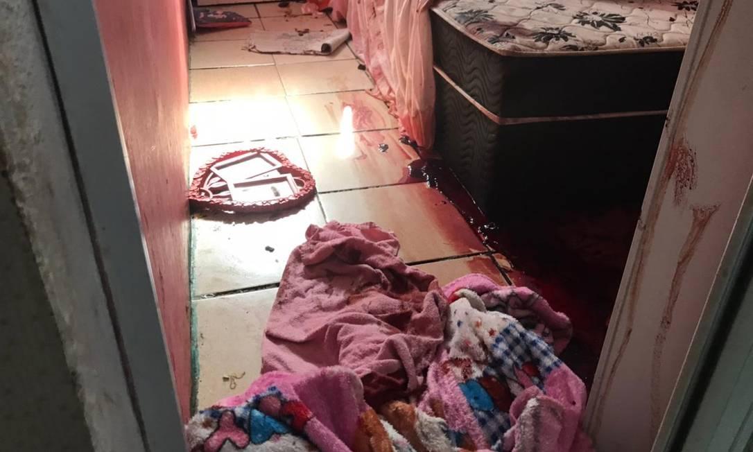 Quarto de uma das casas onde homicídios foram registrados no Jacarezinho, em 6 de maio Foto: Rio de Paz / Divulgação