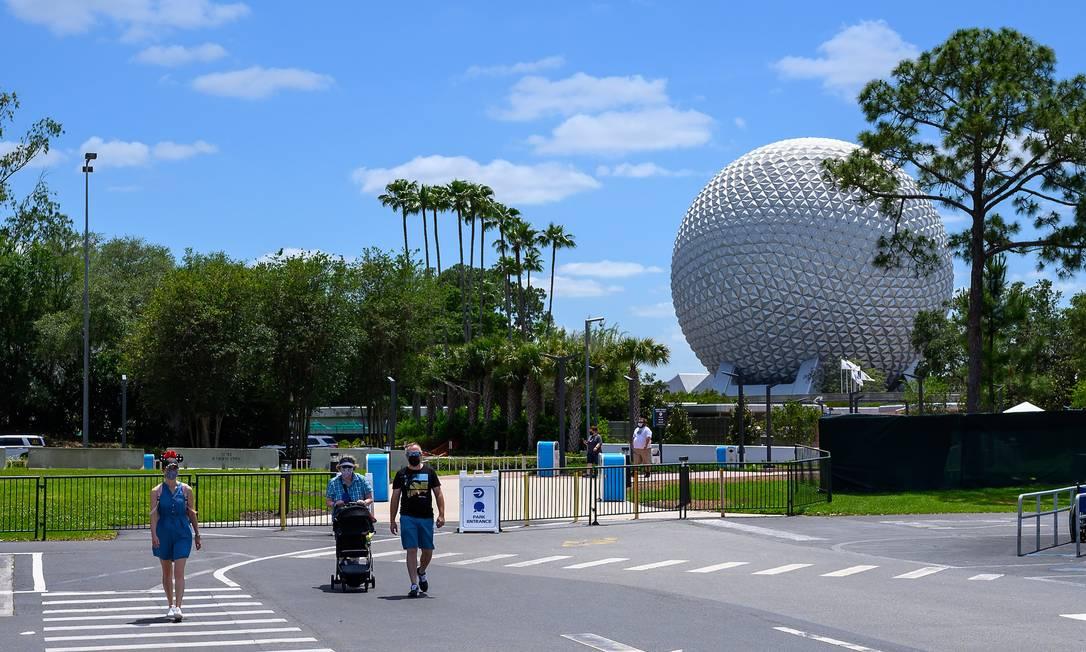 Epcot, um dos parques da Disney na Flórida Foto: TODD ANDERSON / NYT