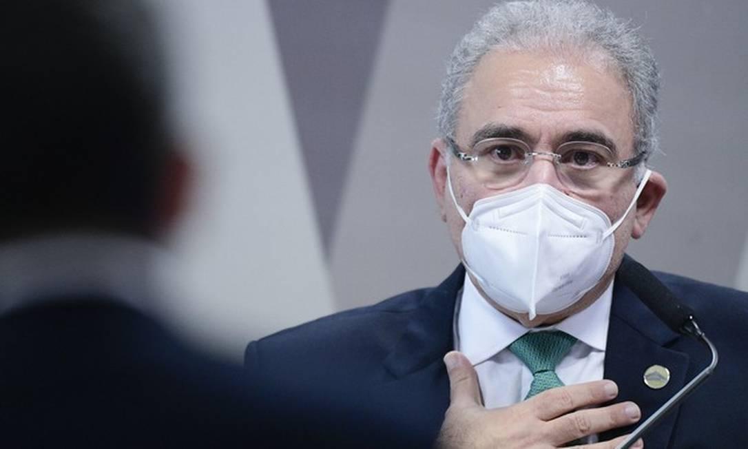 O ministro da Saúde, Marcelo Queiroga Foto: Jefferson Rudy / Agência Senado