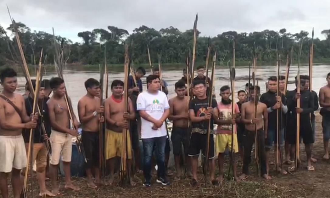 Indígenas yanomamis que moram na comunidade Palimiú, no noroeste de Roraima Foto: Reprodução
