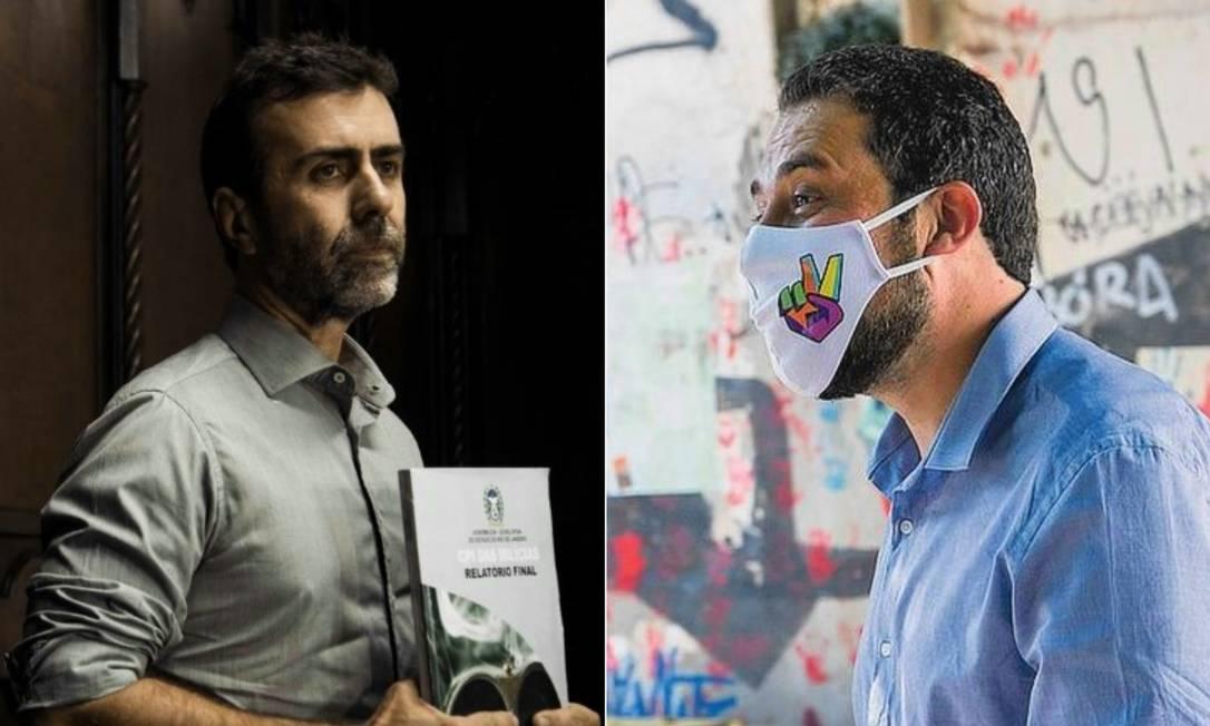Marcelo Freixo e Guilherme Boulos Foto: Agência O Globo