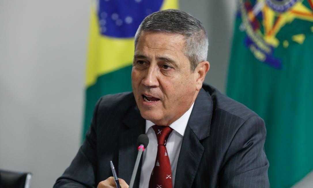 O ministro da Defesa, Walter Braga Netto Foto: Isac Nobrega / Presidência