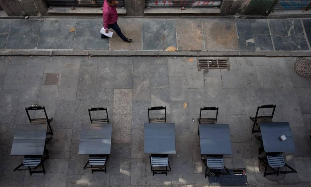 Setor de serviços despencou 9,7% no segundo trimestre de 2020 Foto: Márcia Foletto / Agência O Globo