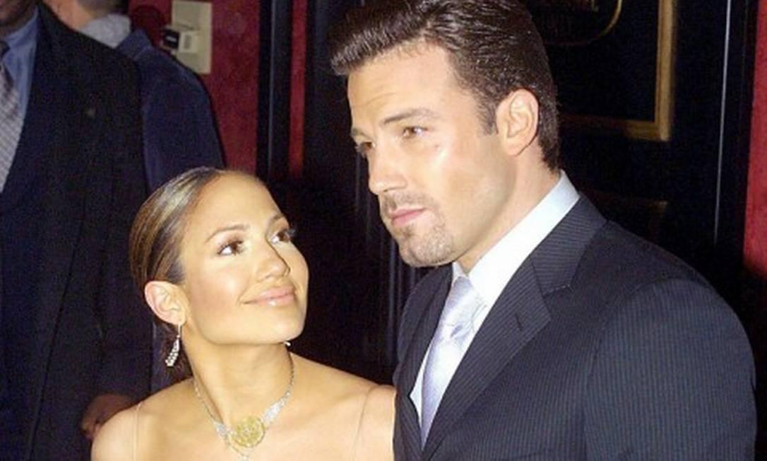 Jennifer Lopez e Ben Affleck em 2002 Foto: Doug Kanter / AFP