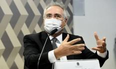 Relator da CPI da Covid, senador Renan Calheiros (MDB-AL) Foto: Jefferson Rudy / Agência Senado