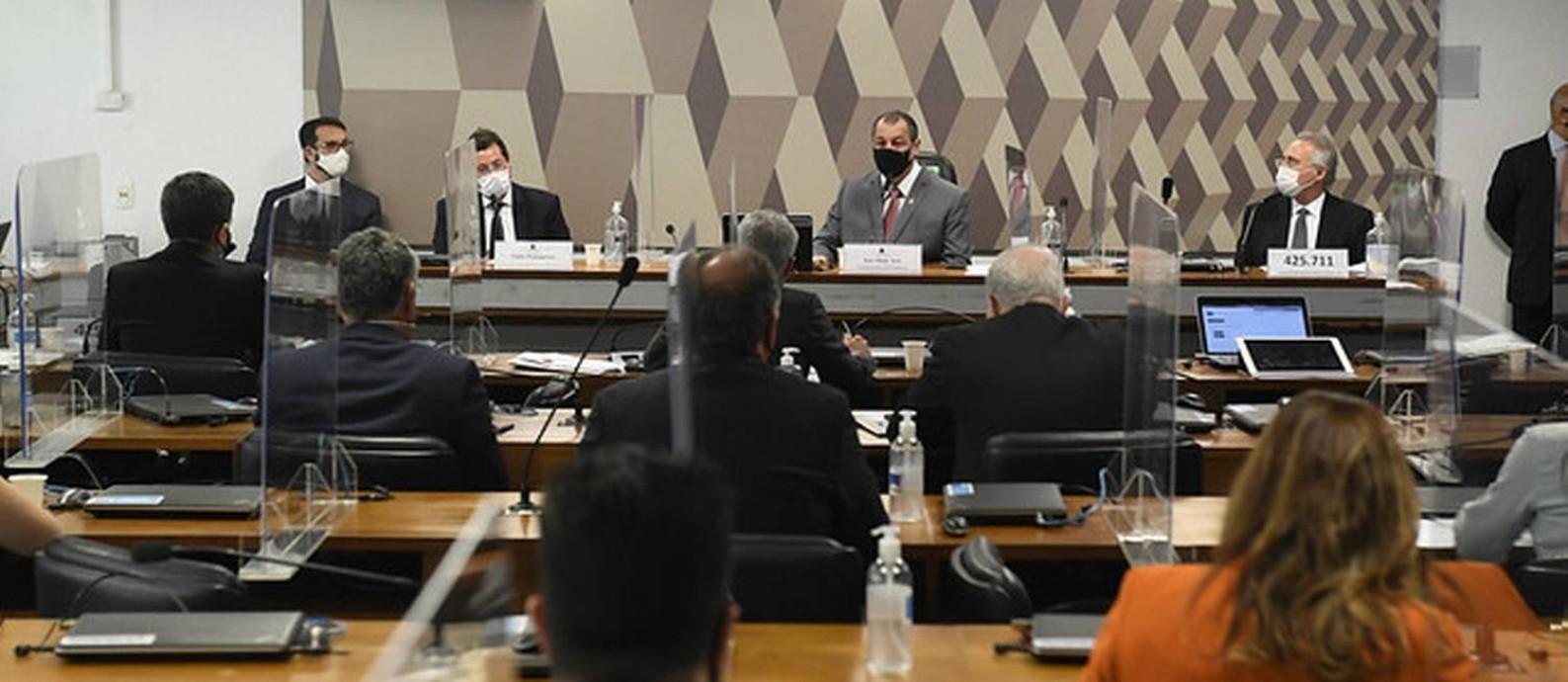 CPI da Covid ouve depoimento do ex-secretário especial de Comunicação Social Fabio Wajngarten Foto: Jefferson Rudy / Jefferson Rudy/Agência Senado