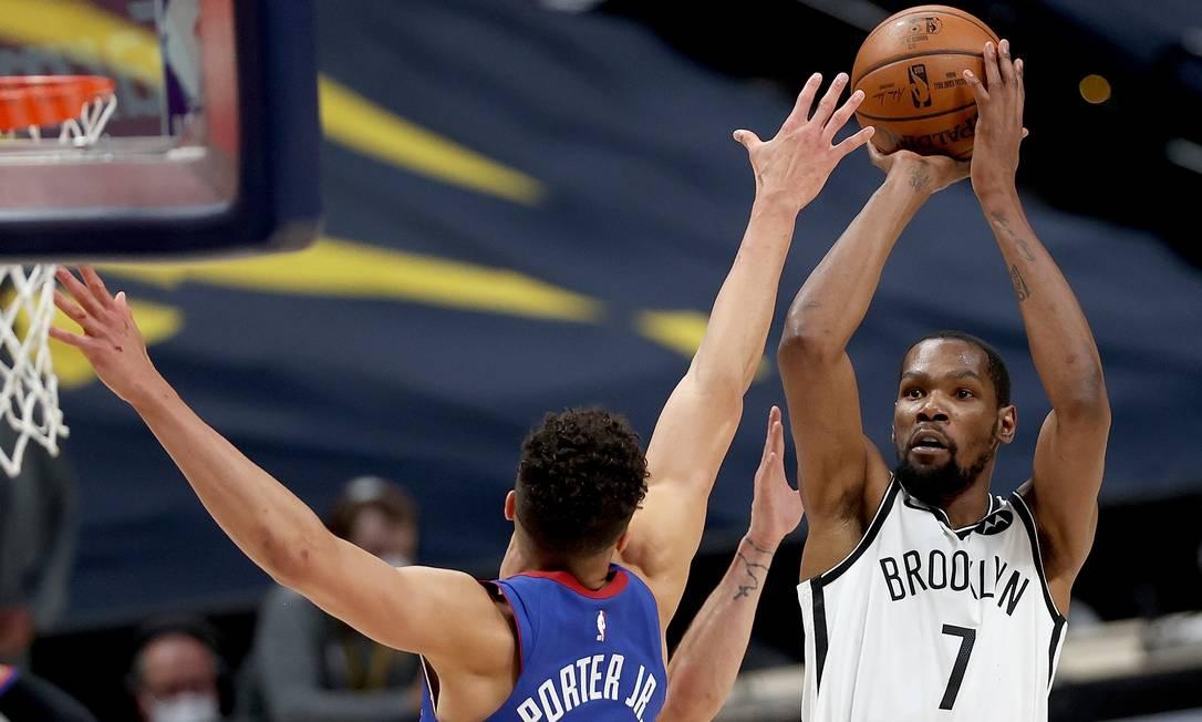 10º - Kevin Durant(jogador do Brooklyn Nets): US$ 75 milhões Foto: MATTHEW STOCKMAN / AFP