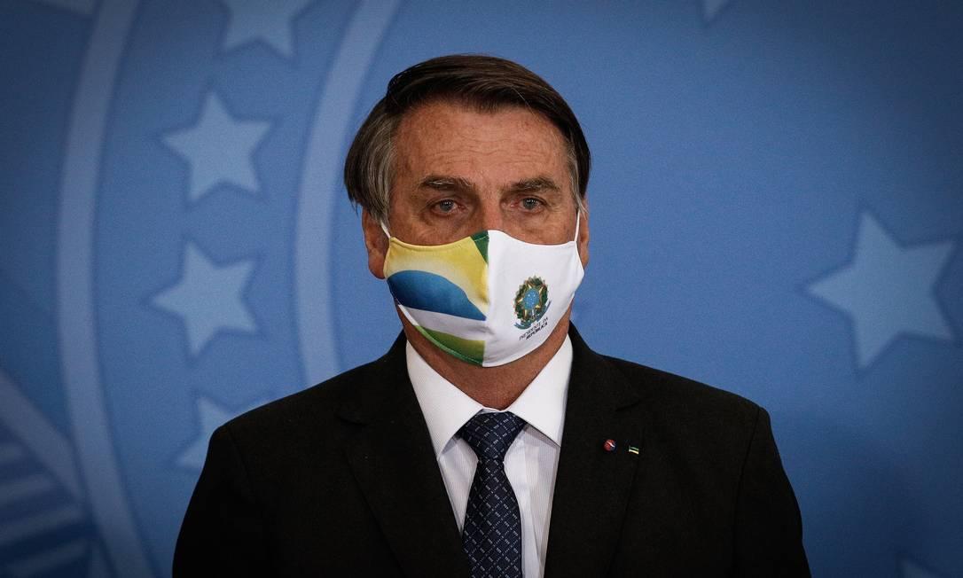 O presidente Jair Bolsonaro participa de cerimônia no Palácio do Planalto Foto: Pablo Jacob/Agência O Globo/11-05-2021