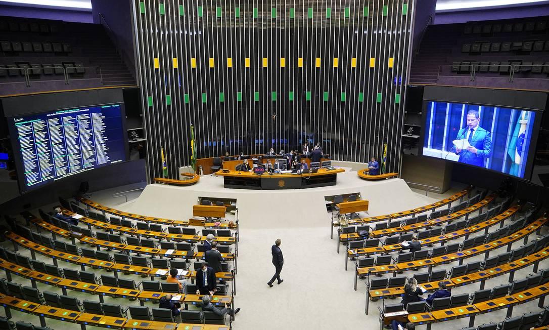 Plenário da Camara dos Deputados durante sessão desta quarta-feira Foto: Pablo Valadares / Câmara dos Deputados