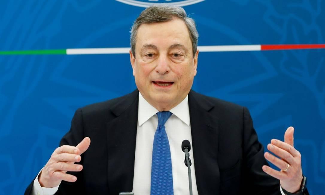 O primeiro-ministro da Itália, Mario Draghi Foto: REMO CASILLI / REUTERS
