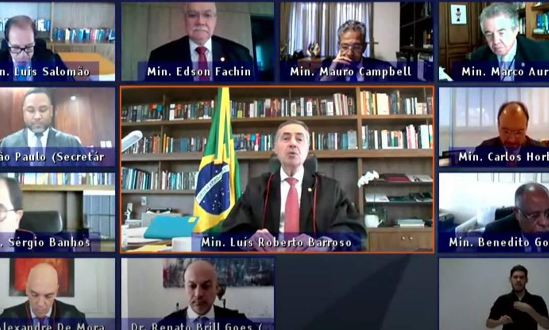 Ministro Luís Roberto Barroso, presidente do TSE, defende as urnas eletrônicas Foto: / Reprodução
