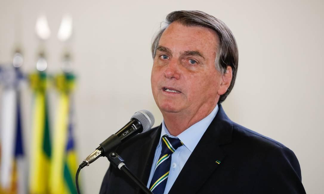 O presidente Jair Bolsonaro em solenidade no Planalto Foto: Alan Santos/PR