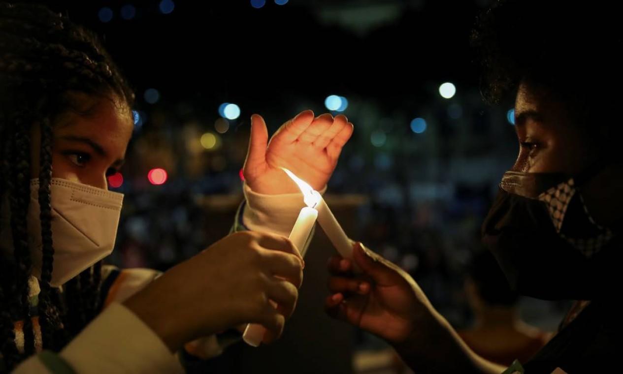 Dia da abolição da escravatura foi marcado por atos promovidos por frentes do movimento negro contra o racismo Foto: RICARDO MORAES / REUTERS