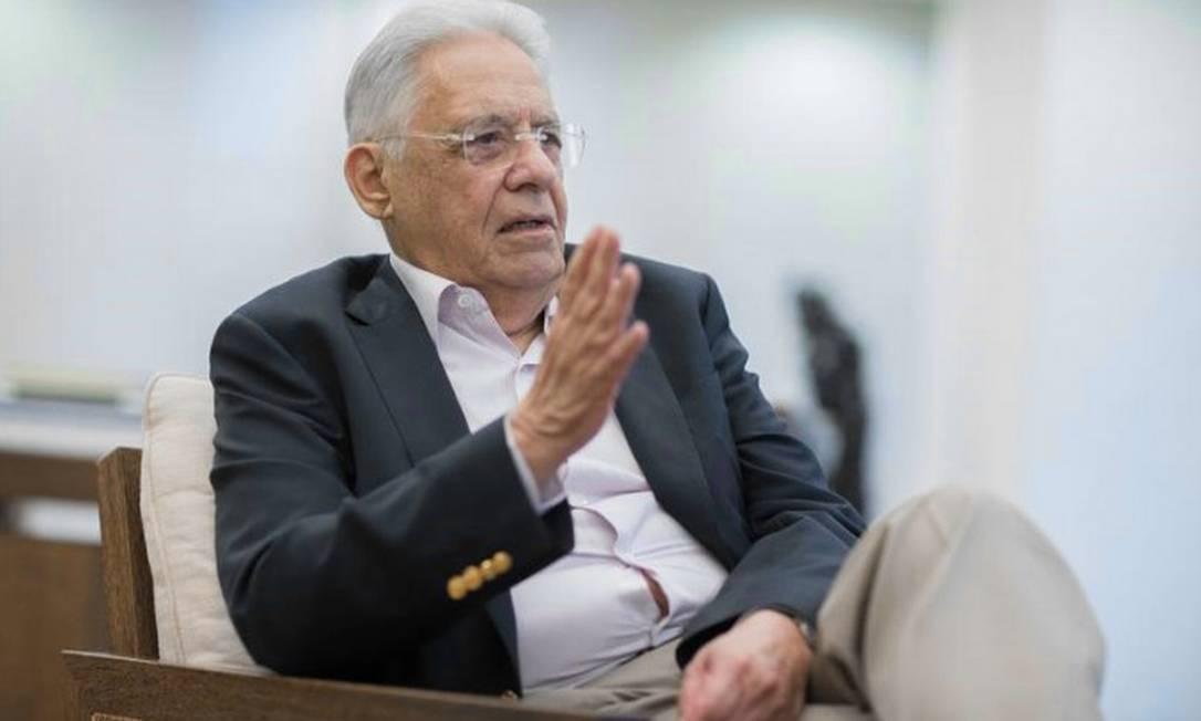 Entrevista com o ex-presidente da República , Fernando Henrique Cardoso Foto: Edilson Dantas / Agencia O Globo