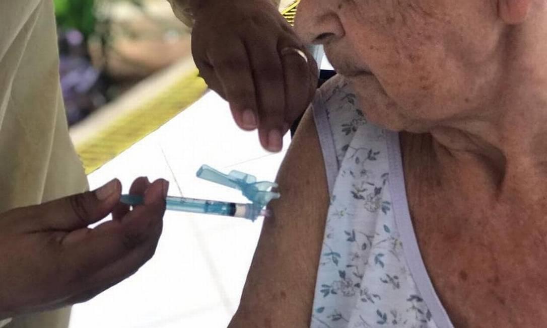 Moradores do Lar São Vicente de Paulo foram vacinados contra a Covid-19 Foto: Divulgação/ Lar São Vicente de Paulo