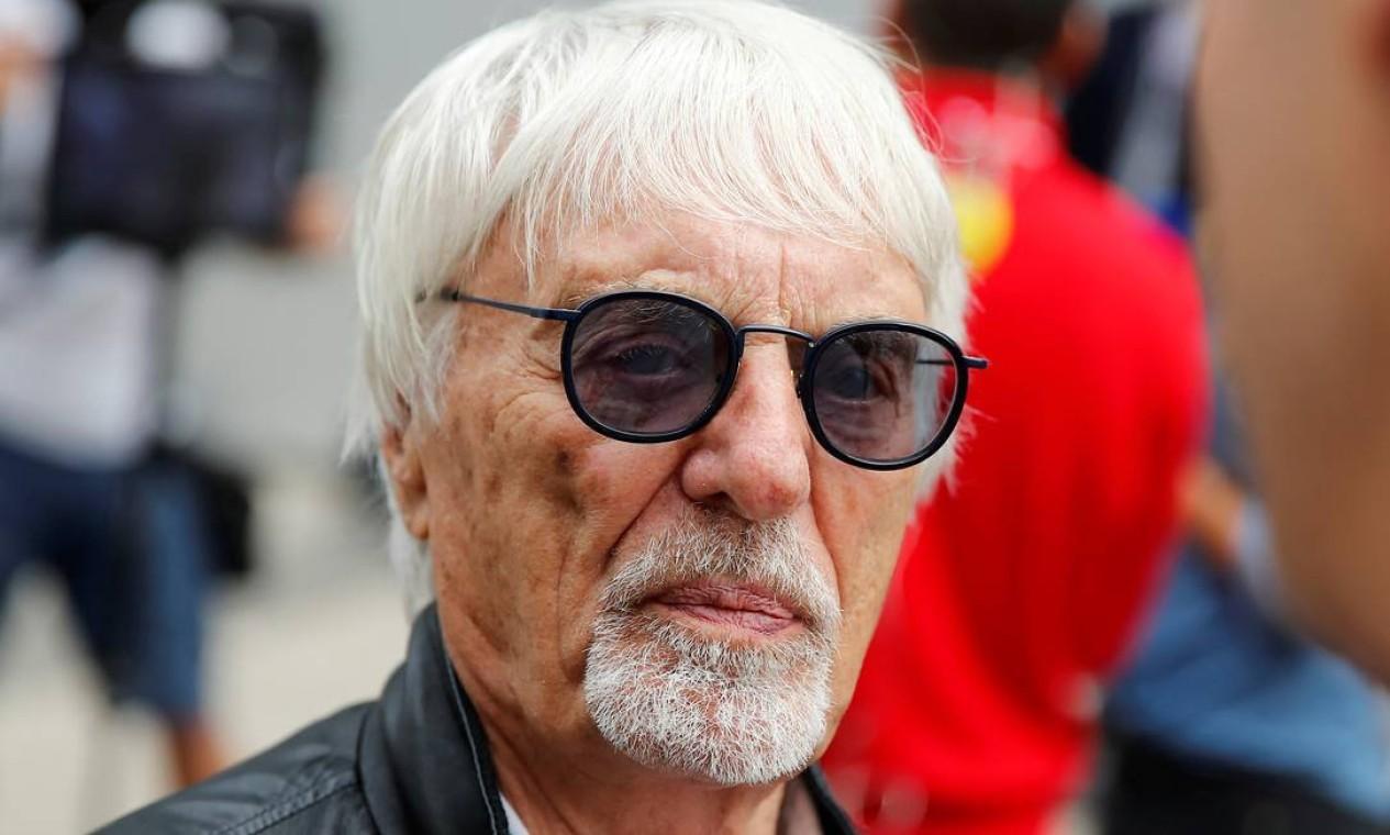 O empresário Bernie Ecclestone, da Fórmula 1, recebeu US$ 1,2 bilhão da ex-mulher Slavica na separação que ocorreu em 2009 Foto: Maxim Shemetov / REUTERS