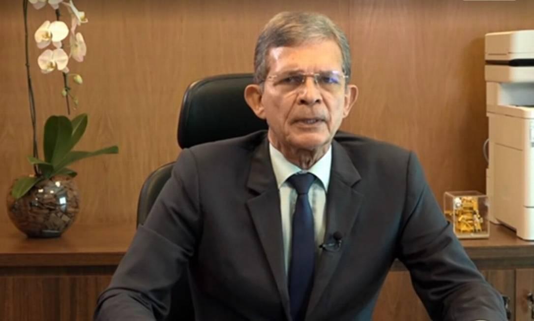 Joaquim Silva e Luna gravou vídeo em sua primeira teleconferência de resultados como presidente da estatal Foto: Reprodução/Bruno Rosa