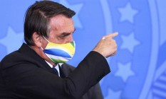 O presidente Jair Bolsonaro participa de cerimônia no Palácio do Planalto Foto: Evaristo Sá/AFP/11-05-2021