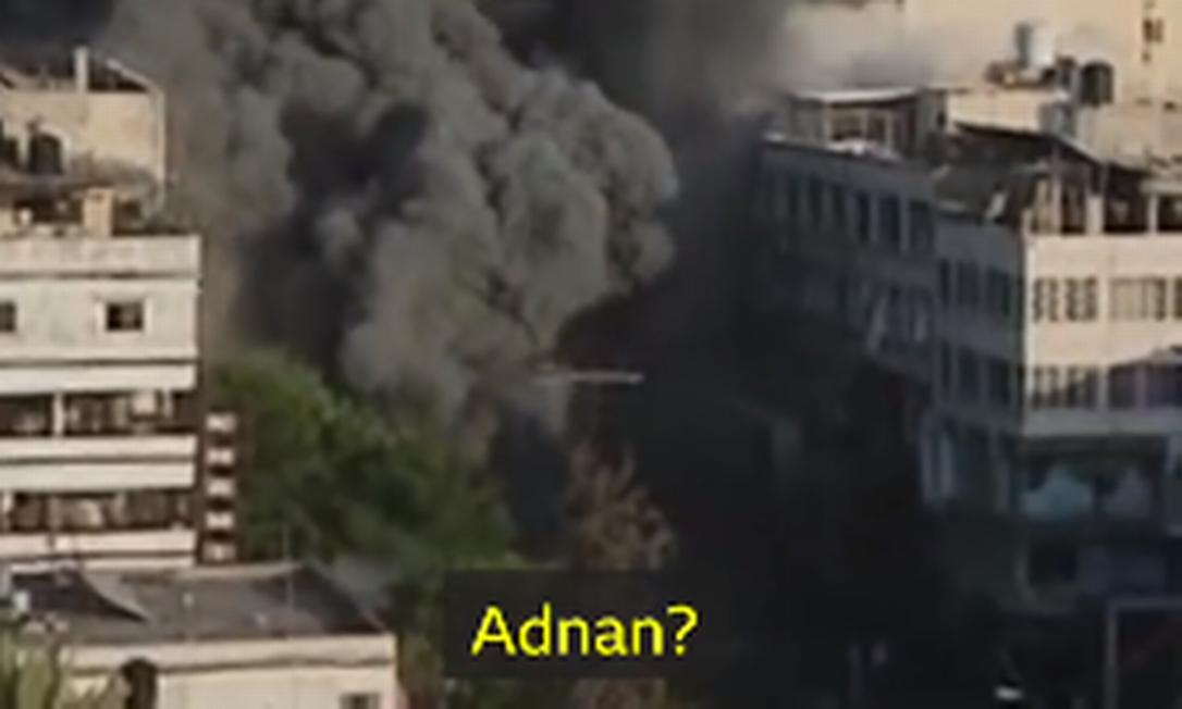 Prédio colapsou em Gaza durante bombardeio israelense Foto: Reprodução / BBC