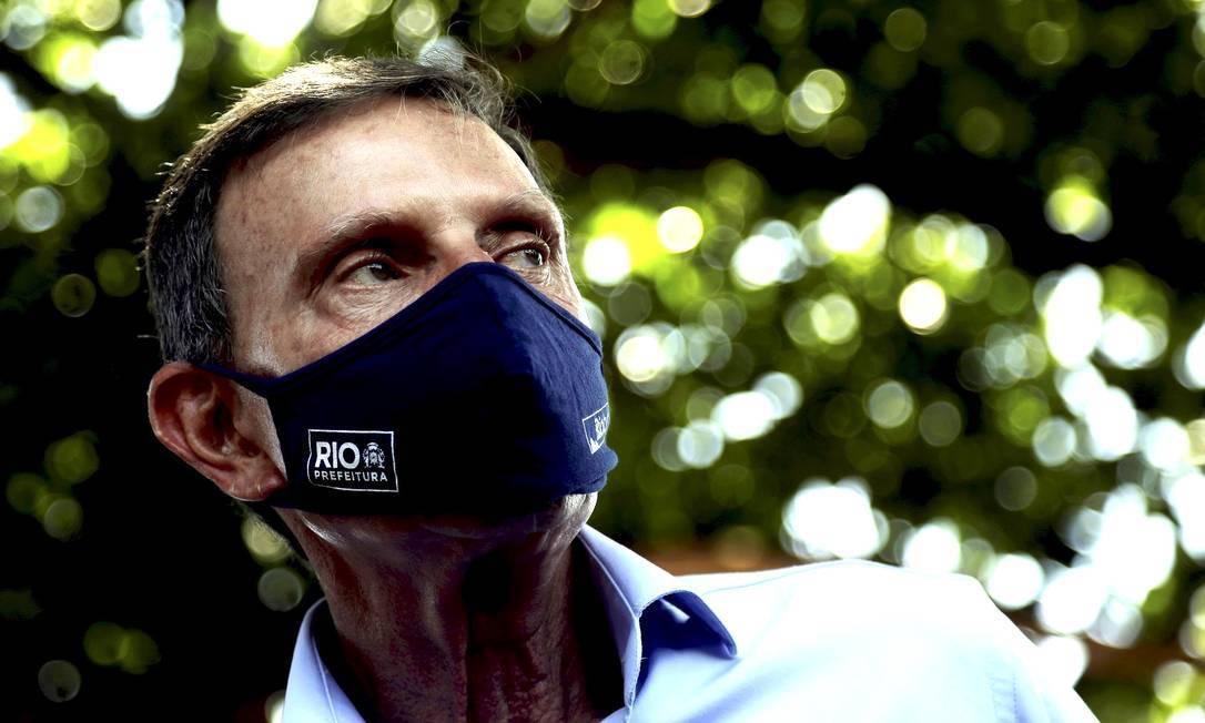Justiça não acatou denúncia contra o ex-prefeito Marcelo Crivella Foto: Gabriel Paiva / Agencia O Globo