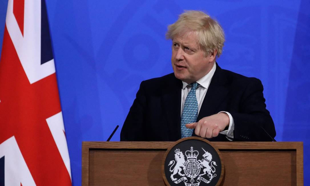 O primeiro-ministro britânico Boris Johnson Foto: MATT DUNHAM / AFP