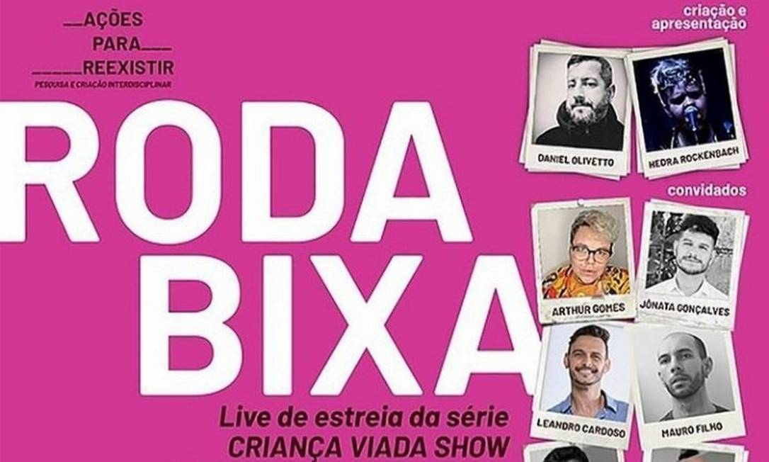 Arte da live 'Roda Bixa', atacada por Mario Frias em suas redes sociais Foto: Reprodução