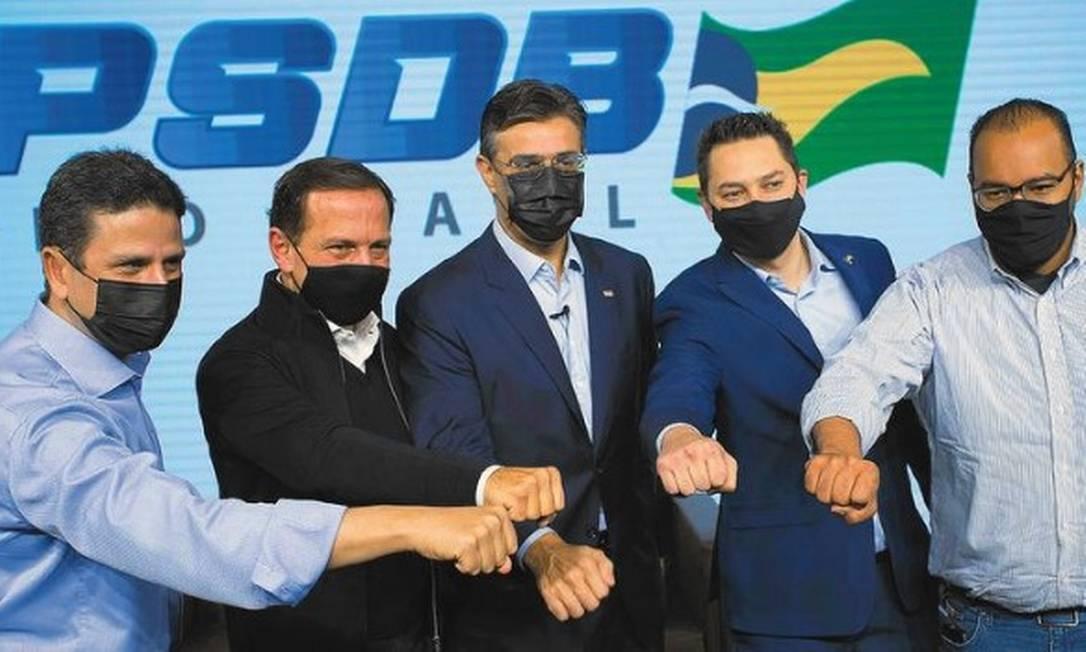 O PSDB de São Paulo realizou a filiação do vice-governador de São Paulo, Rodrigo Garcia, ao partido Foto: Edilson Dantas / O Globo