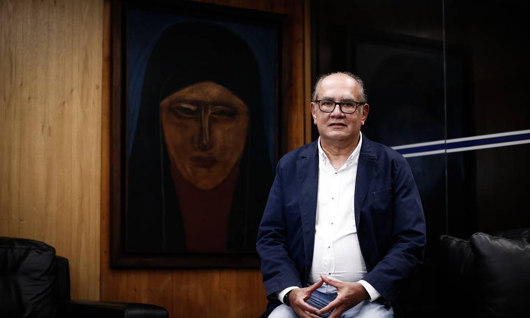 Entrevista com o ministro do STF Gilmar Mendes Foto: Pablo Jacob / Agência O Globo