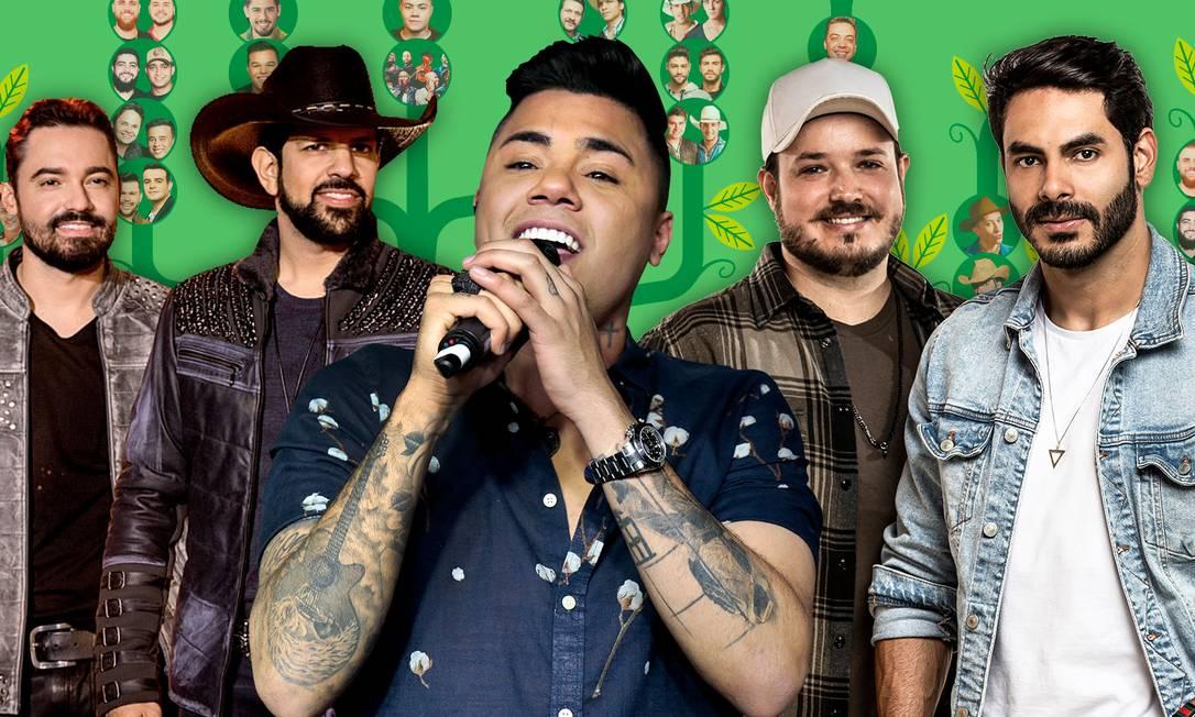 Das 50 músicas mais tocadas em todo o país, 33 vêm do sertanejo Foto: Infoglobo
